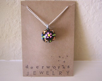 nighttime wildflower necklace