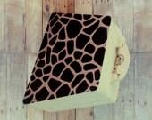Animal print Giraffe Wood clutch Free personalizing Best shower or anniversary gift recipes box trinkets box 2 designs in 1