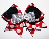 Awesome Mickey Ears and dots Allstar Cheerleading bow by Funbows