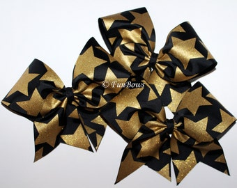 Awesome BIG STARS Cheerleading Hairbow by Funbows