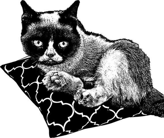 clipart grumpy cat - photo #9