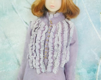 jiajiadoll- violet laced shirts fit momoko or misaki or blythe or azone