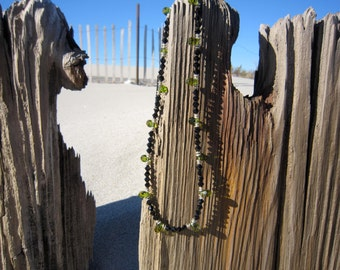 Green and Black Glass Necklace