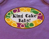 King Cake Baby Bodysuit