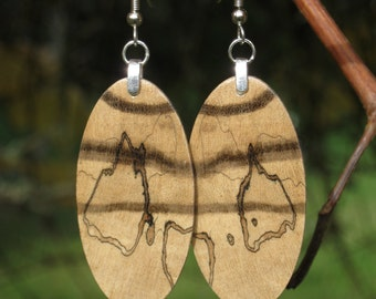 Amazing Spalted Wood Earrings