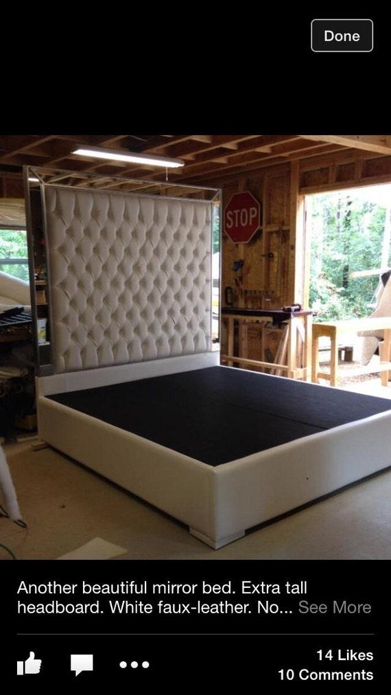 ... Bed Platform Bed with Mirrors Headboard Extra Tall Headboard