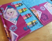 Coloring Wallet - Disney's Frozen Anna and Elsa, Crayons and Paper Included