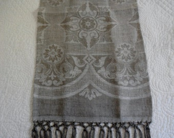 European linen guest towel rushnyk icon towel 79 X 14 inches with hand tied fringe
