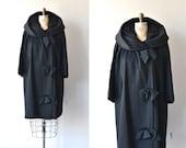 Papyon Trio coat • vintage 1960s coat • black wool 60s coat