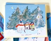 The Carolers- Christmas Card- Christmas Cat Card