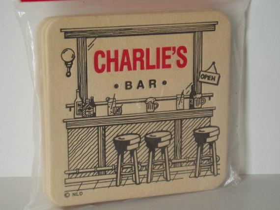 Vintage bar coasters drink coaster set barware beer coaster - Cardboard beer coasters ...