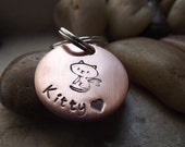 Kitty with wings, Copper keychain