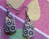 Spoon Earrings   April  1950  by  Wm Rogers & Son