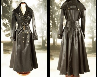 Trench Coat made to order unisex Free shipping