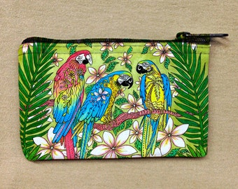 Parrot Paradise Coin Bag