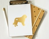 Gold Foil Clipboard - Dog Breed Clipboard - 3 Sizes - Desk Organizer - Clipboard - 3 Sizes