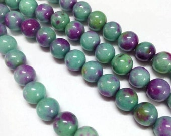SALE - Dyed Jade Beads - 14mm - Sold per strand - #BST1163