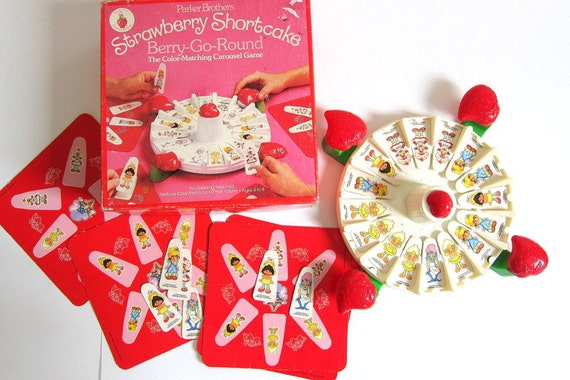 20% OFF SALE Vintage Strawberry Shortcake Berry Go Round Carousel Game 1981