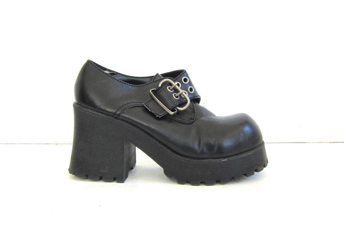 20 sale vintage 90s black platform shoes
