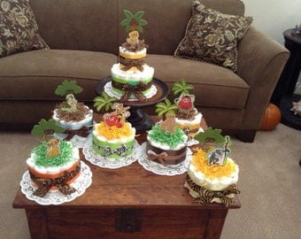 Lion King Jungle Diaper Cake Baby Sower Centerpieces bundt cakes other topers and styles too