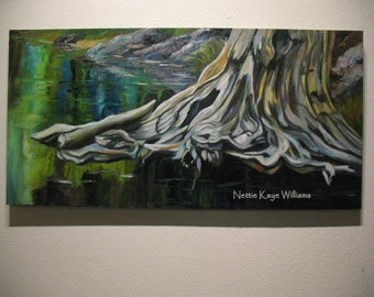 LANDSCAPE/ The COST of WISDOM  18 x 36 oil on canvas
