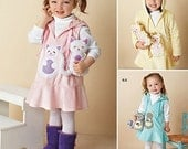 SALE! GIRLS PATTERN / Make Jumper - Dress / Hedgehog - Cat - Squirrell Appliques - Matching Toy / Size 1/2 - 4