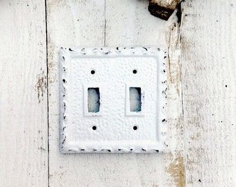 Metal Wall Decor, Light Switch Cover, Creamy White, Shabby Chic Iron, Lighting, STYLE  106