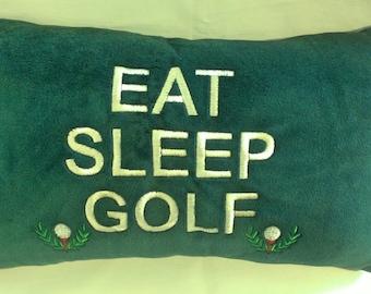 Eat, Sleep, Golf Pillow