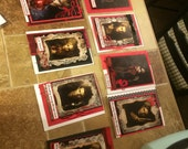 Set of 8 Halloween invitations, vampire diaries, reserved for Jaimie. Size 5x7
