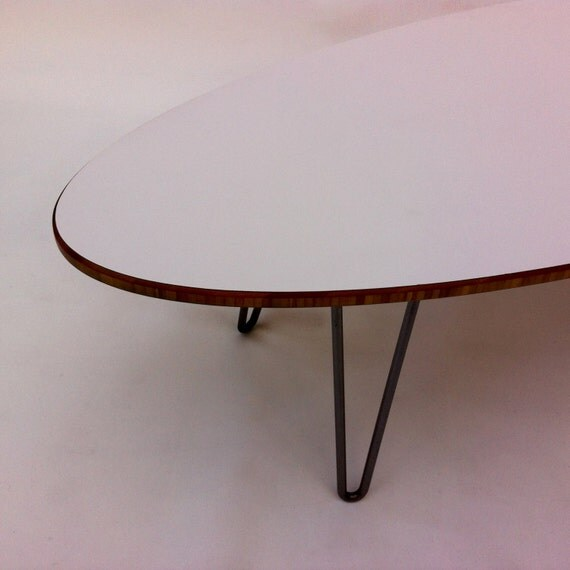 mid century modern surf board coffee table in your choice of. Black Bedroom Furniture Sets. Home Design Ideas