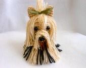 Tiny Yorkshire Terrier Crochet Dog, Amigurumi, Canine, Stuffed Dog