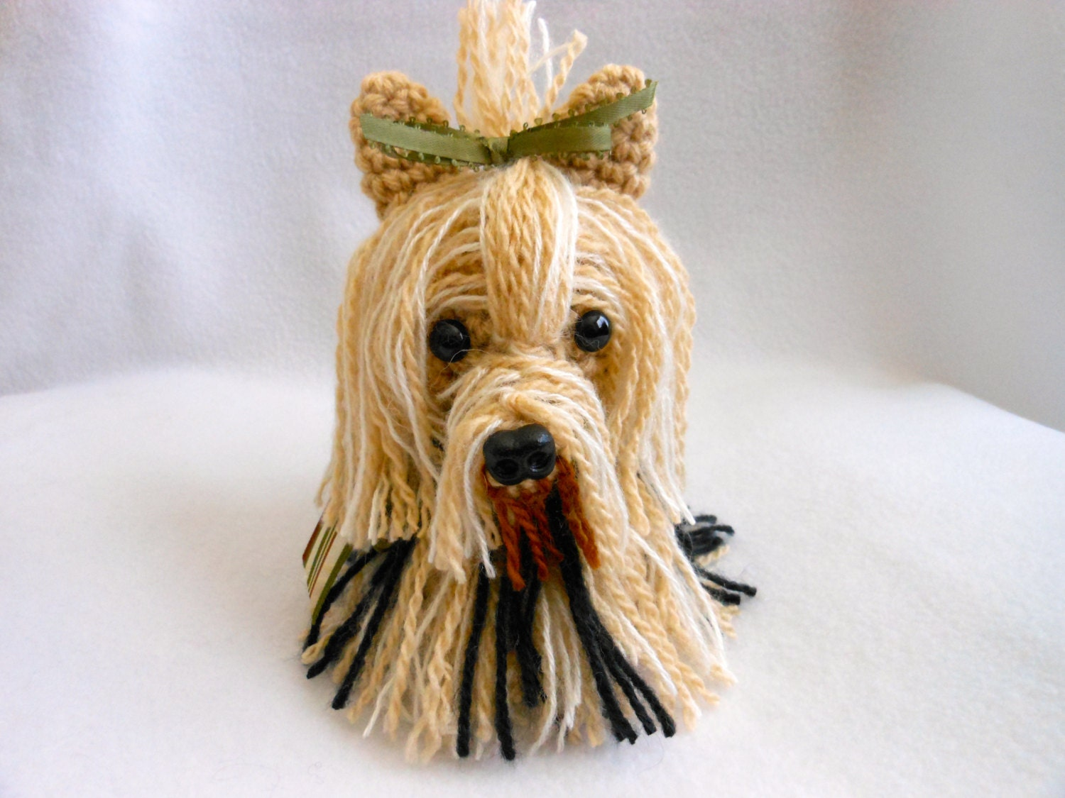 Tiny Yorkshire Terrier Crochet Dog Amigurumi Canine Stuffed