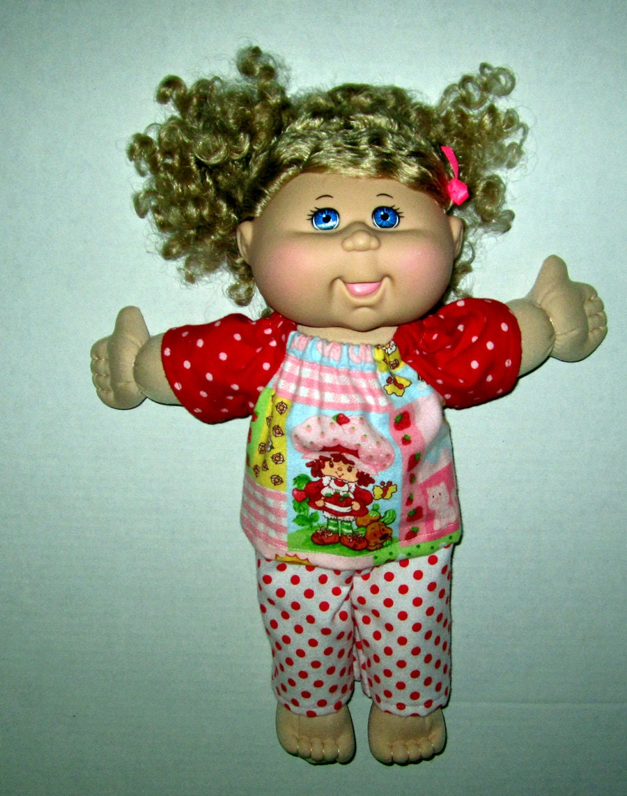 cabbage patch doll clothes strawberry shortcake print fabric