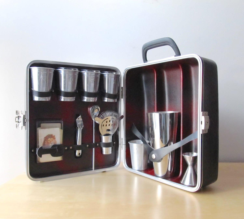 Portable Bar Cabinet : Travel bar portable pub londonaire liquor cabinet cocktail