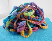 Art Happens II - Curvy Coiled Handspun Art Yarn - 15 yards