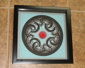 Mandala Papercut Wall Art 3D Flower Wall Art Wall Decor 10x10 Shadow Box Part 78