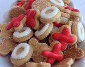 MINI SUGAR COOKIES, Hugs And Kisses Itty Bitty Sugar Cookies, 1/2 Pound