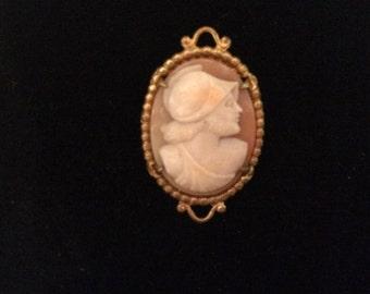 Vintage Steampunk warrior Roman cameo pin brooch pendant jewelry
