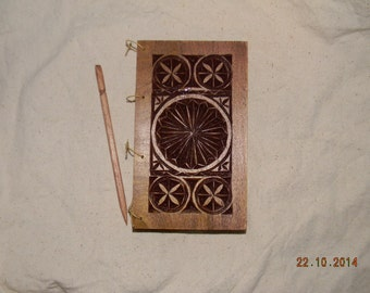 "3"" x 5"" Chip Carved Wax Tablet with birch stylus"