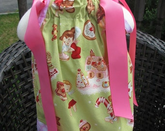 christmas half off sale pillowcase dress in size 12/18 months only, christmas pillowcase dress, party dress, holiday dress