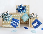 Holiday Gift Tags Set of 6 Let it snow, folded