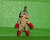 Micro Sock Monkey 1 1/2 inch  for Linda4417
