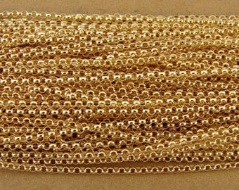 Gold Fill 1.4mm Rolo Chain - Ten Feet - QUANTITY DISCOUNT- Bulk Gold Fill Chain - btfrgf10q