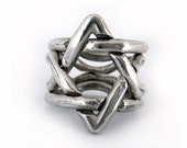 Star of Daivd Puzzle Silver Ring