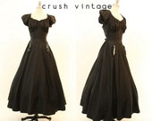 40s Dress Peasant Gown / 1940s Vintage Dress Party Gown / The Lula Dress