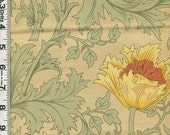 Fabric Moda  Best of Morris William Morris Anemone  8217 31 sage Arts and Crafts style Art Nouveau style design
