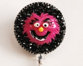 Animal From The Muppets ID Badge Reel - RN ID Badge Holder - Zipperedheart