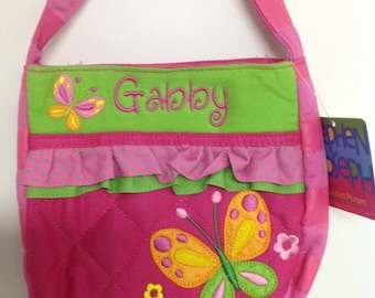 Personalized Stephen Joseph Butterfly Quilted Purse