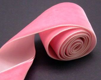 1-1/2 inch Rose Pink Velvet Ribbon - 3 yards (RN005-C5)