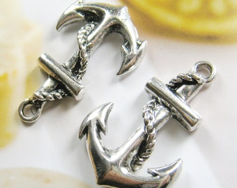 4 pcs -35x23mm - antique silver big anchor charms/pendant (CM024)